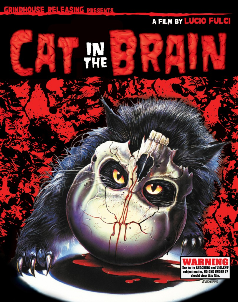 Cat in the Brain (1990) 2 Blu-ray + CD soundtrack by Fabio Frizzi: directed by Lucio Fulci: Grindhouse Releasing
