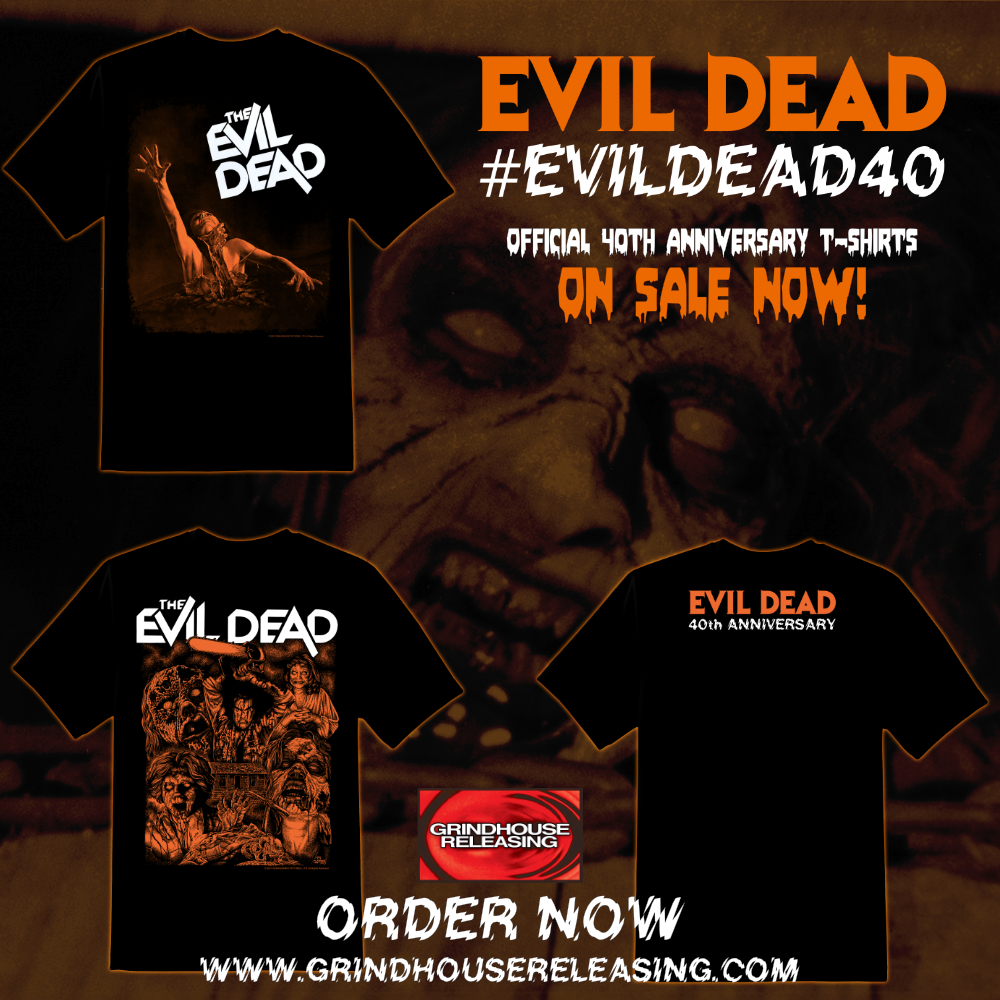Official Evil Dead 40th anniversary T-shirts